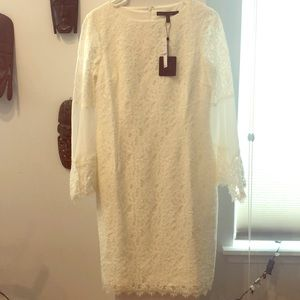 Brand New - White Lace Dress with Bell Sleeves